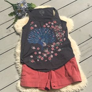 Lucky Brand embroidered tank top  🦚